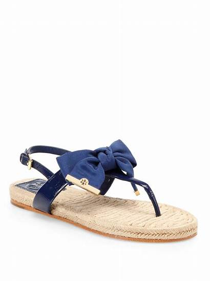 Sandals Leather Patent Espadrille Burch Tory Navy