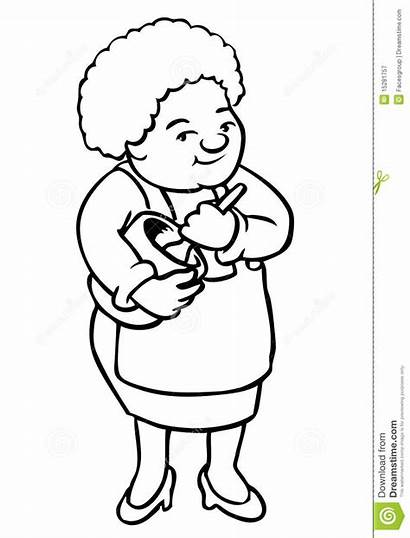 Grandmother Cooking Grandma Clipart Cartoon Drawing African