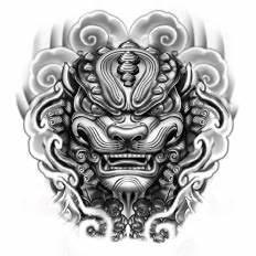fu dog head tattoo - Google Search   Tat   Pinterest ...