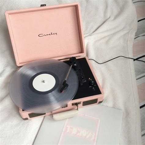 Hipster Bedroom Decor by Record Player On