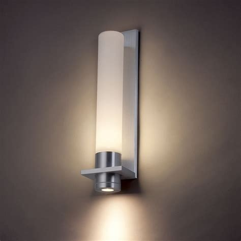 modern forms jedi brushed aluminum led outdoor wall light