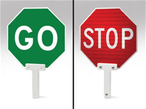 stop go held paddles 109921 traffic parking co inc