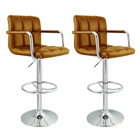2 new kitchen chair swivel barstool arm adjustable