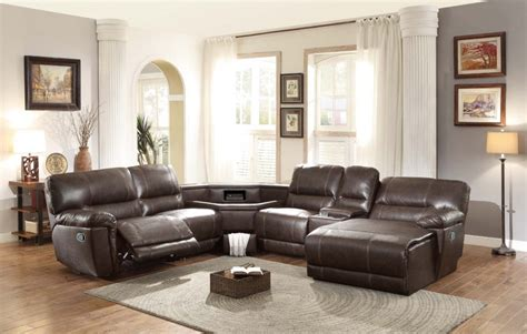 Leather Reclining Sofa With Chaise Black Leather Reclining