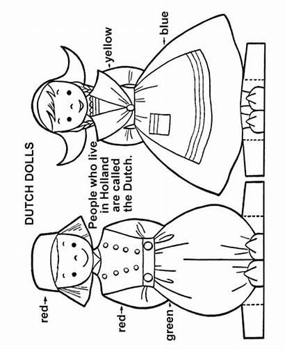 Sheets Activity Dutch Paper Children Doll Dolls