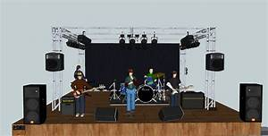Pa System  Stage Setup For Musicians