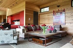 Wohnzimmer Holz Modern : wohnzimmer wand holz raum und m beldesign inspiration ~ Indierocktalk.com Haus und Dekorationen