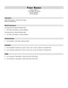 Ub Crc Resume Template by High School Resume Template E Commercewordpress