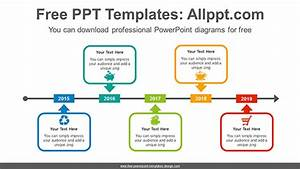 Arrow Across Rectangular Powerpoint Diagram Template