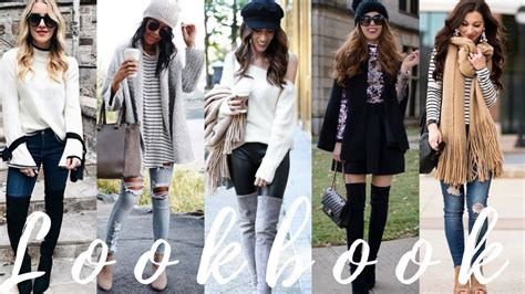 Winter 2018 Outfit Ideas | Lookbook - YouTube