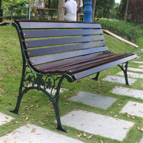 wrought iron wood chair benches waiting lounge chair