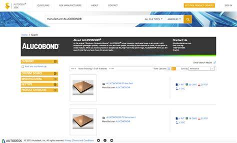autodesk seek for revit alucobond aluminum composite material 3d bim files now