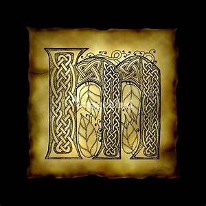 """Celtic Letter M"" by Kristen Fox"