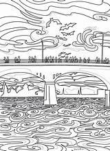 Coloring Bridge Congress Austin Borrel Li sketch template