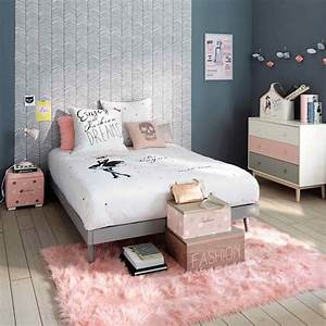 chambre d39ado rose pastel une couleur a redecouvrir en deco With meuble style maison du monde 14 le papier peint fait le mur mais pas seulement le