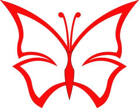 red butterfly clip art  clkercom vector clip art