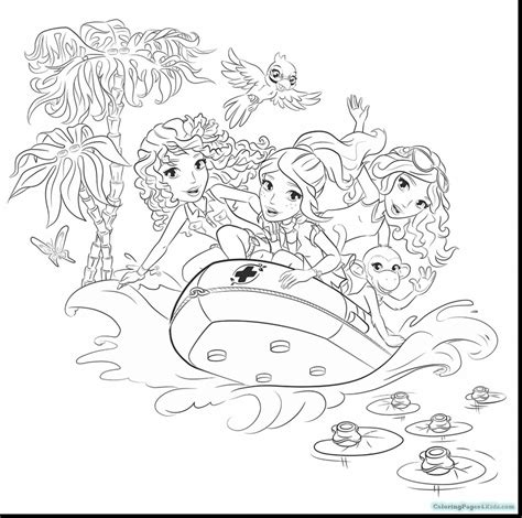 lego friends coloring pages  girls  livi coloring