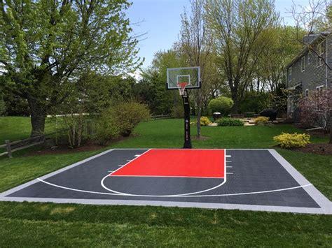 26'x26' Snapsports® Backyard Basketball Court