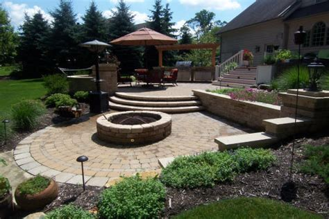 Outdoor Patio Landscaping by Cleveland Ohio Landscaping Design Services H M Landscaping
