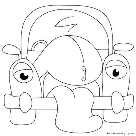 cartoon drawings  classic cars coloring pages