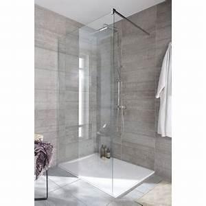 paroi de douche grand espace line prestige salle de bains With porte d entrée pvc avec lapeyre salle de bain colonne de douche