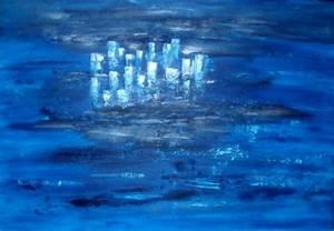 Peinture Bleu Ciel : tableau peinture bleu ~ Melissatoandfro.com Idées de Décoration
