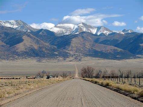 road in the san luis valley southern colorado taken on