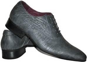 chaussure de mariage homme chaussures homme grises à lacets aspect croco coupe richelieu