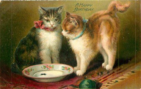 happy birthday  cats   empty bowl ball front