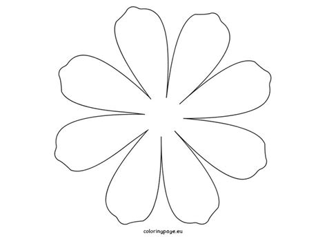 large daisy petal template printable flower daisy