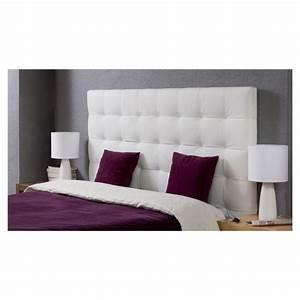 MIDNIGHT Tête de lit adulte 140x120 cm en PU blanc Achat / Vente tête de lit MIDNIGHT tête de