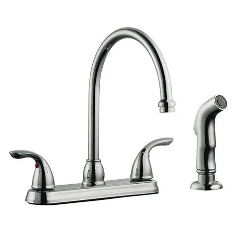 moen banbury 2 handle mid arc standard kitchen faucet with