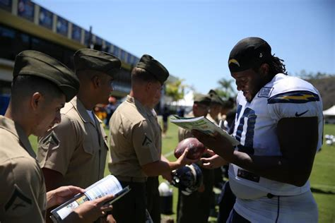 Marines, Sailors Attend San Diego Chargers
