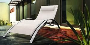 Bain De Soleil Gris : chaise longue bain de soleil aluminium en r sine tress e ~ Dode.kayakingforconservation.com Idées de Décoration