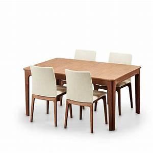 Table de salle a manger scandinave en bois avec allonges for Salle À manger contemporaine avec plateau bois scandinave