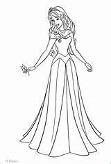 Princess Coloring Disney Aurora Pages Walt Characters Fanpop sketch template