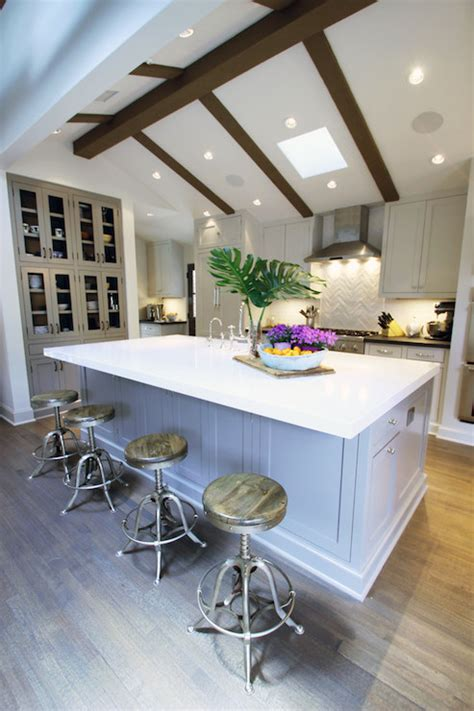 vaulted ceiling kitchen transitional kitchen fiorella design