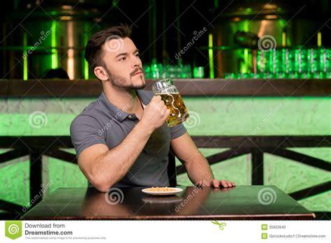 Drinking Fresh Beer Stock Photo  Image 35922640