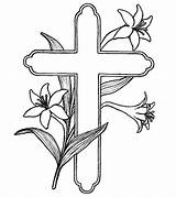 Cross Coloring Pages Printable Easter Momjunction sketch template