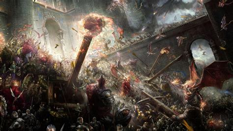 battle castle siege weapons warrior army