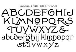 Egyptian Style Fonts Alphabet