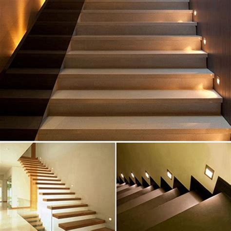 5pcs stairs lights recessed led stair light arandela 100 240v 1 5w wall lights step indoor wall l
