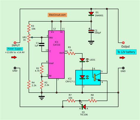 convert power supply to battery charger eleccircuit com
