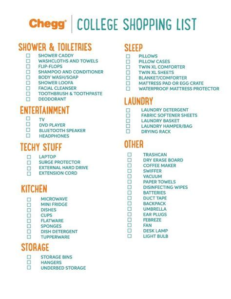 Ultimate College Packing List   Chegg Play