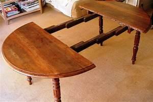 Table Bois Avec Rallonge : table en bois ronde avec rallonge cuisine naturelle ~ Teatrodelosmanantiales.com Idées de Décoration