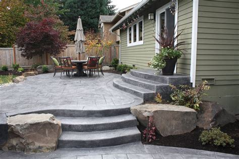concrete patio landscaping ideas five concrete design ideas for a small backyard patio the ask home design