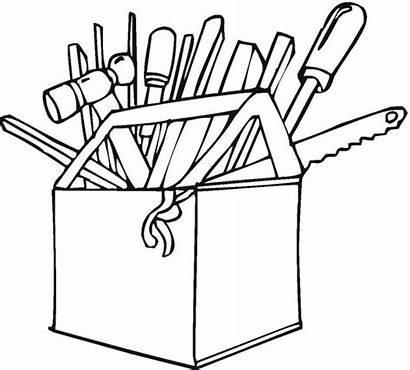 Coloring Tools Tool Pages Construction Clipart Colouring