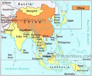 Map of China - Neighbouring Countries | PlanetWare