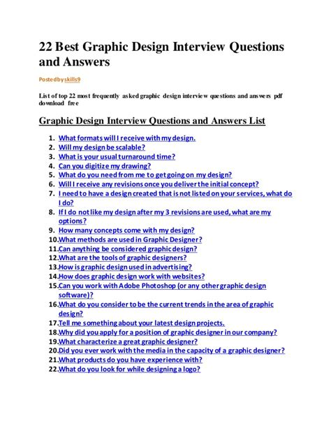 graphic design interview questions  answers