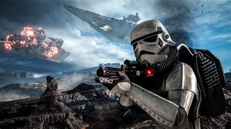 Darth Vader Hd Wallpaper Star Wars Gameplay Battle Of Hoth Battlefront Stormtrooper Desktop Hd Wallpaper For Mobile